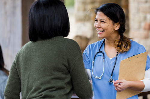 diabetes care team welcoming a patient